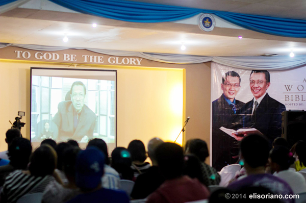 Bro. Eli answers the questions coming from attendees of the Worldwide Bible Exposition on August 8, 2014.