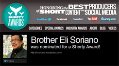 Bro. Eli Soriano Makes It To Shorty Awards Final Six