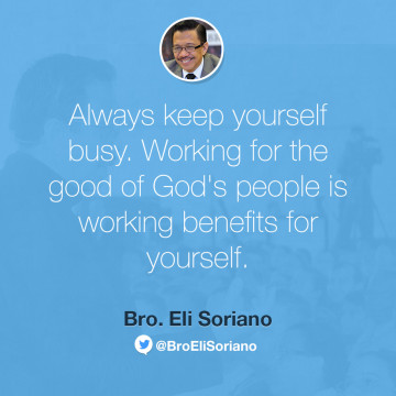 On Keeping Oneself Busy
