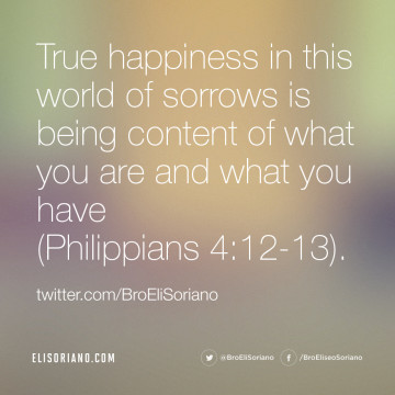 True Happiness and Contentment