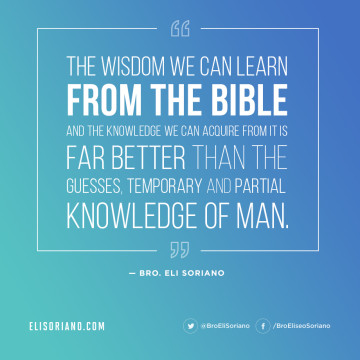 On Wisdom From the Bible