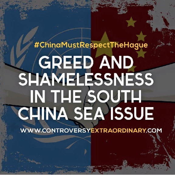 Greed and Shamelessness in the South China Sea Issue