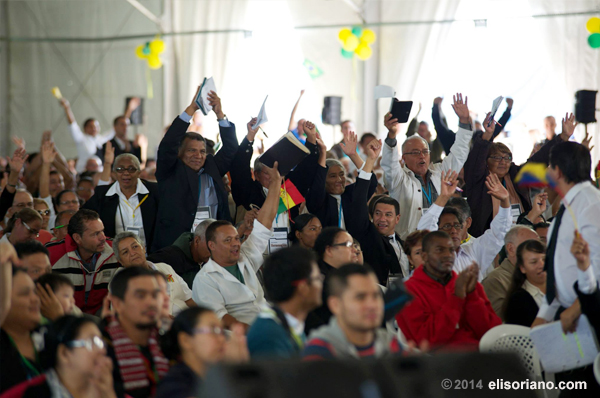 Jovial Latin American participants during the thanksgiving of MCGI at South America.