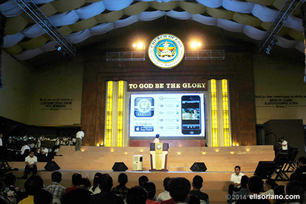 The MCGI Broadcast App was unveiled to the attendees of the regular thanksgiving of MCGI on February 11, 2014 at ADD Convention Center, Apalit Pampanga.