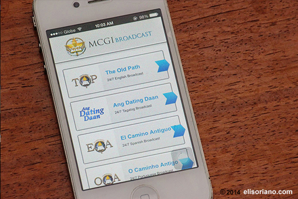 The MCGI Broadcast app features Bro. Eli's preachings in different languages through a 24/7 video streaming. The app can be downloaded for free in the Apple App Store and Google Play.